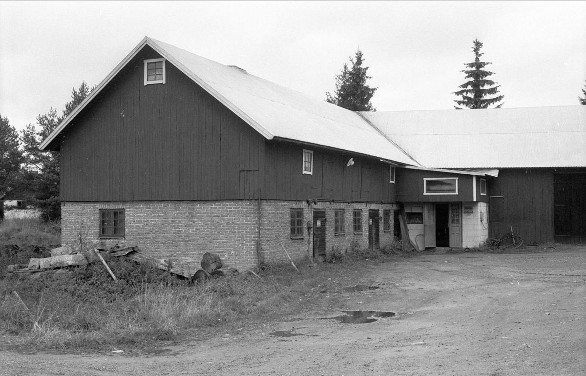 Ladugård och lada, Oxsätra 1:18, Bälinge socken, Uppland 1983