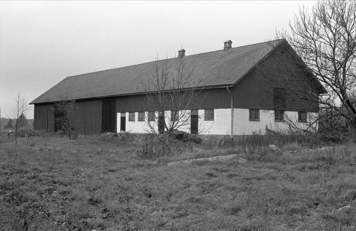 Lada och ladugård, Hässle 3:1, Dalby socken, Uppland 1984
