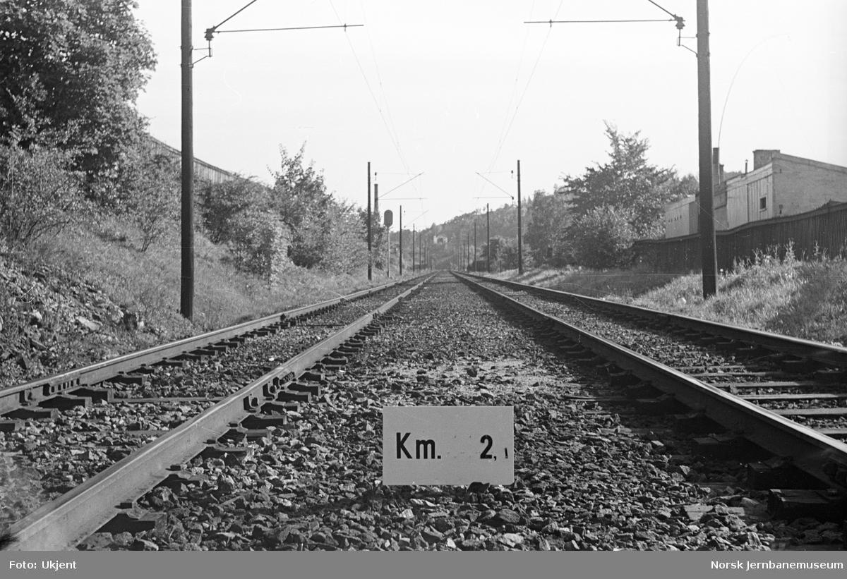 Hovedbanen : linjeføring km 2,1
