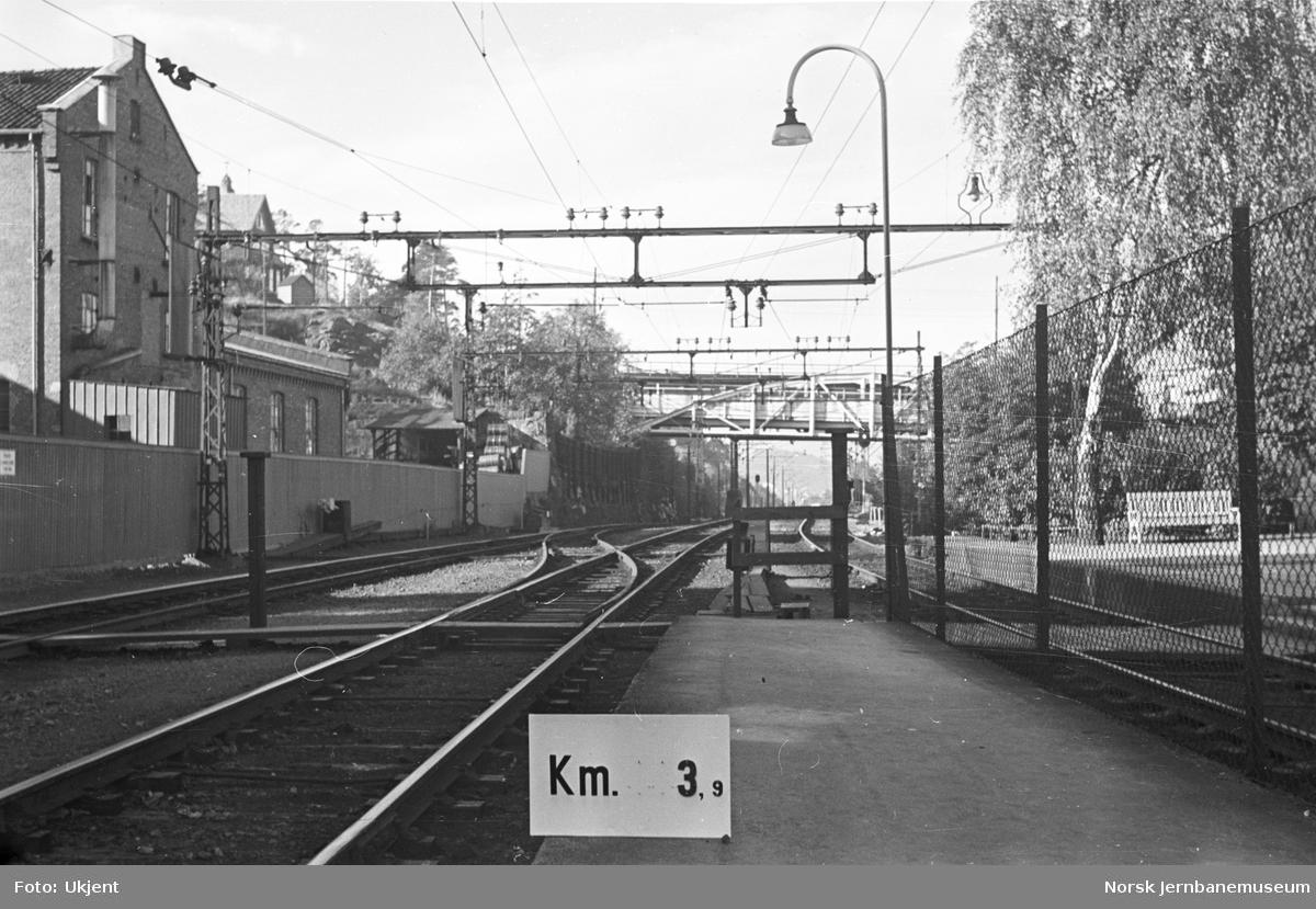 Hovedbanen : linjeføring km 3,9
