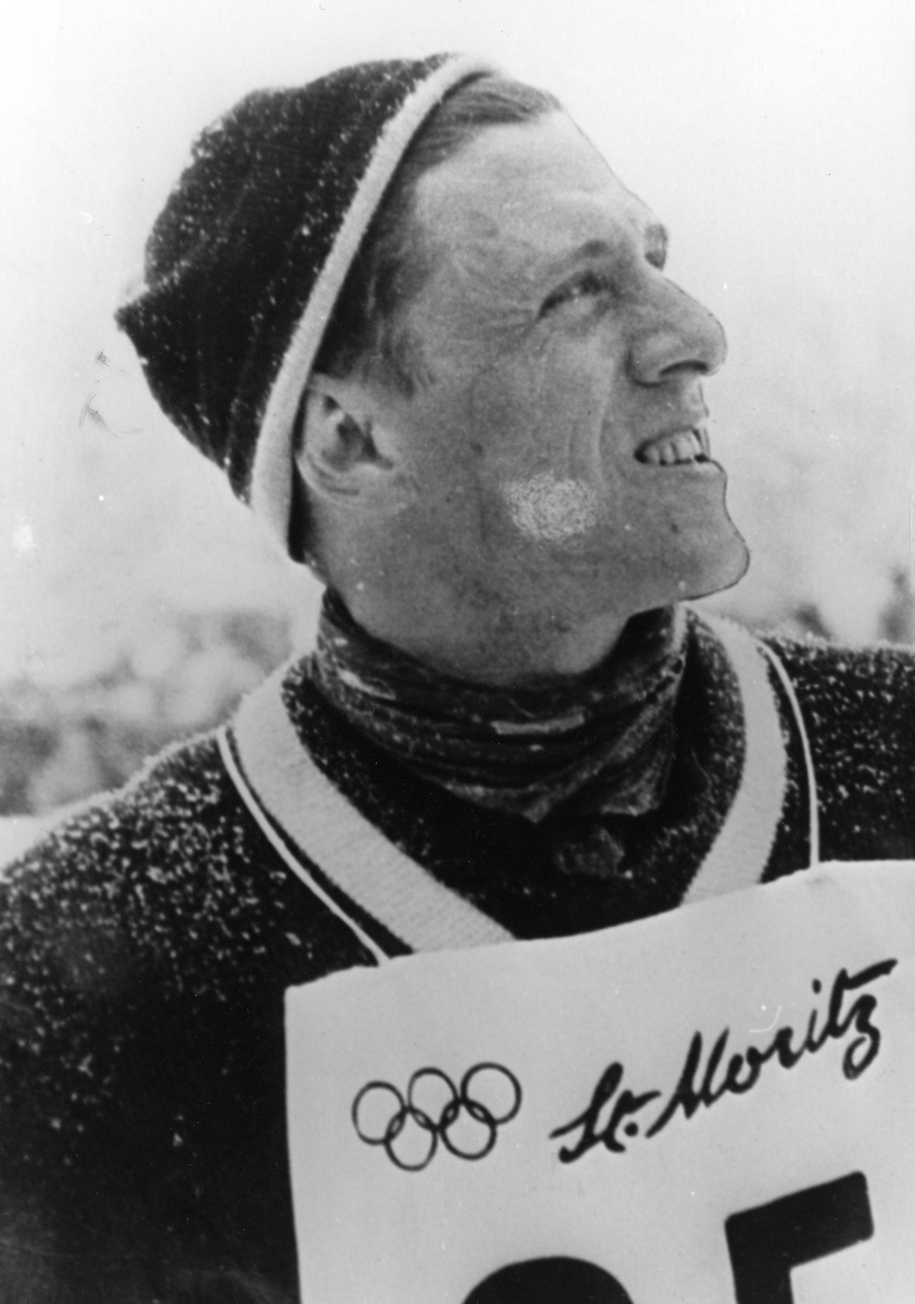 Petter Hugsted in the 1948 Winter Olympics in St. Moritz.