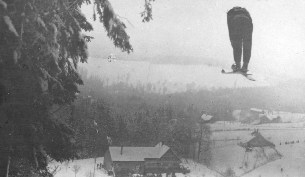 Sigmund Ruud i VM i Oberhof. Sigmund Ruud in World Championship at Oberhof 1931.