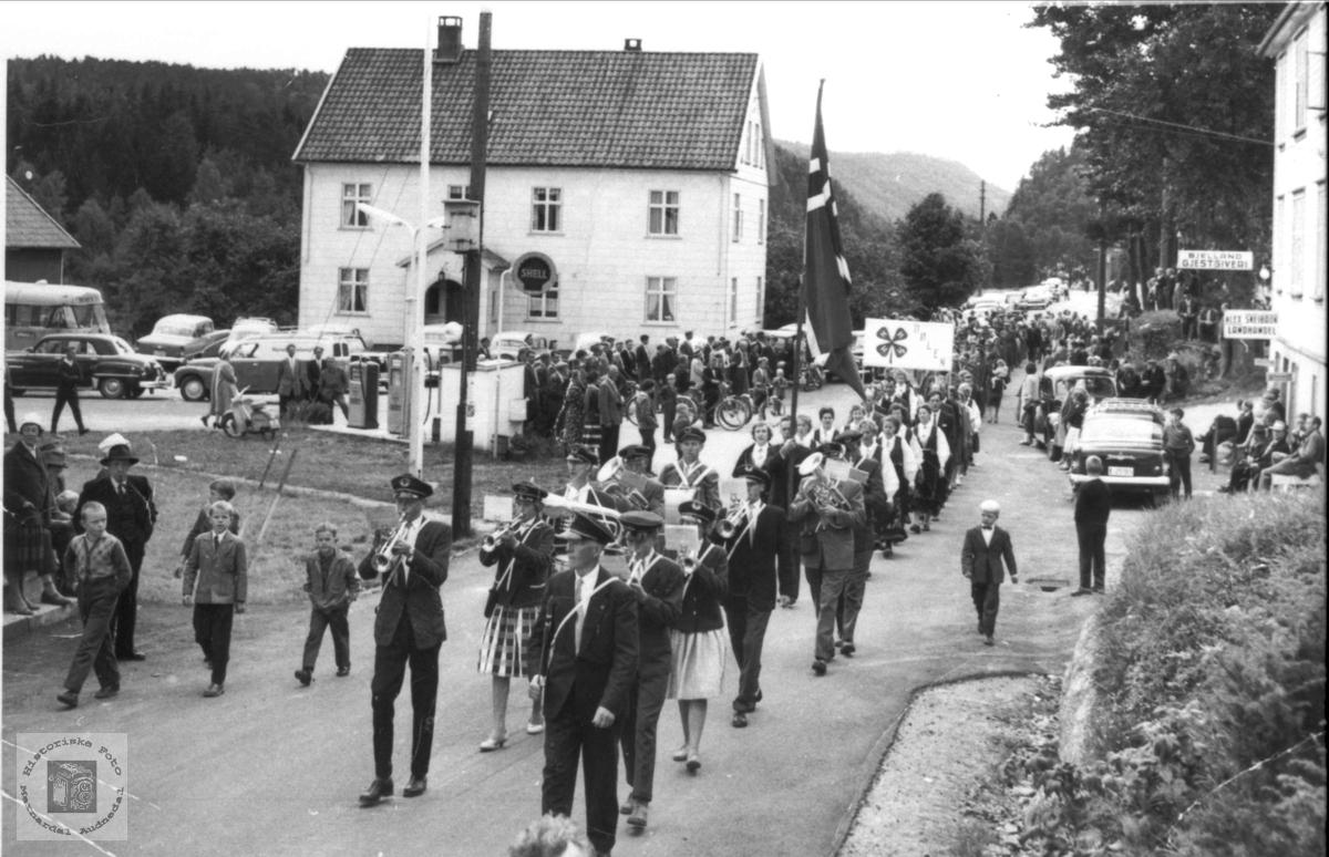 Bygdestemne i Bjelland 1959.