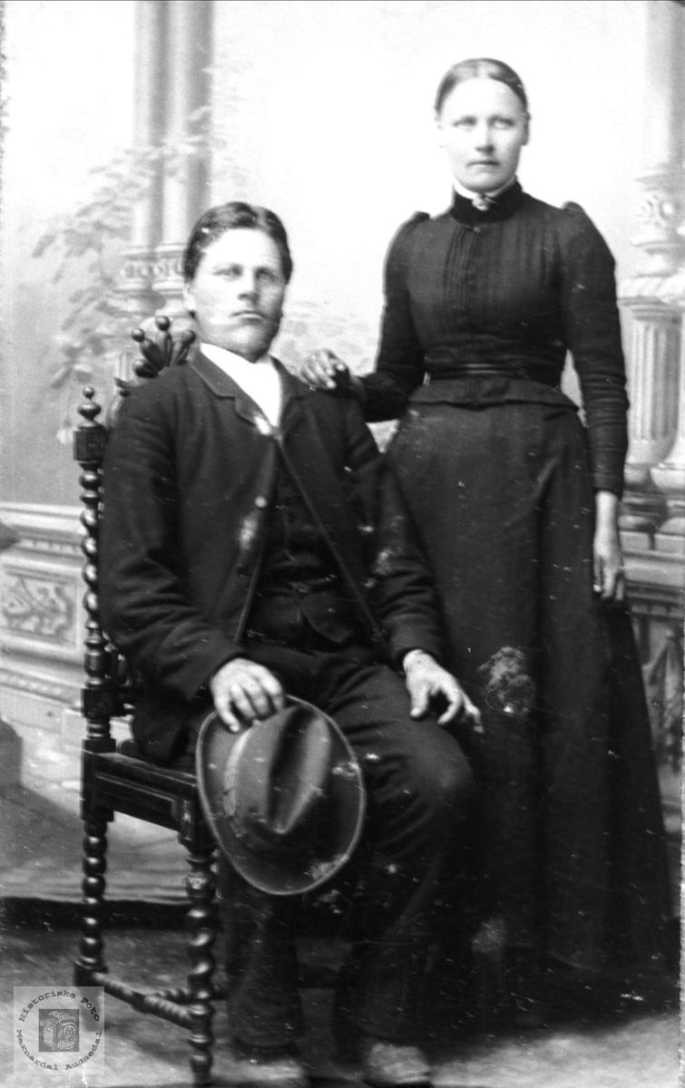 Portrett av Torborg og Ommund J. Roland, Bjelland.