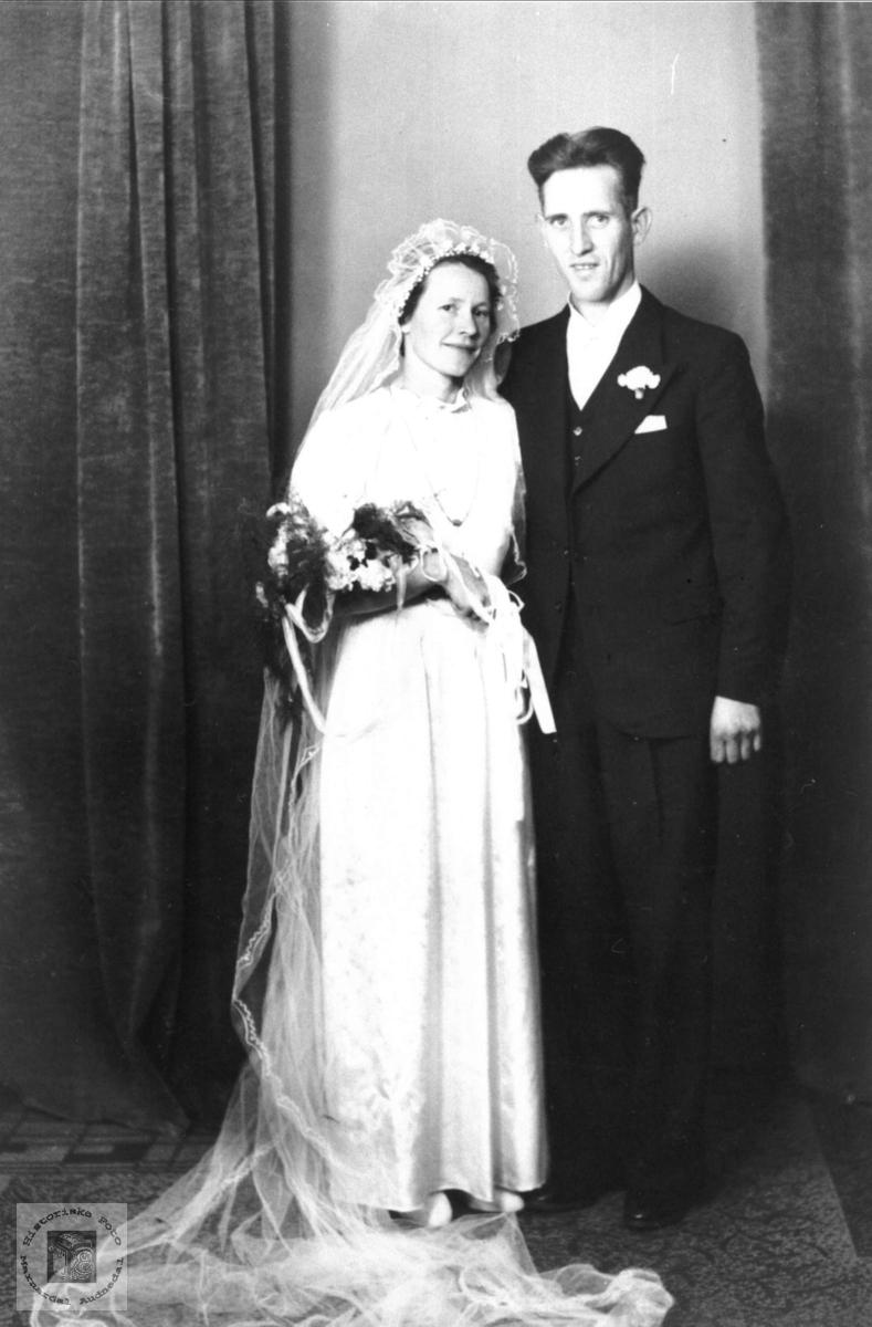 Brudebilde Olga og Ragnvald Ågedal