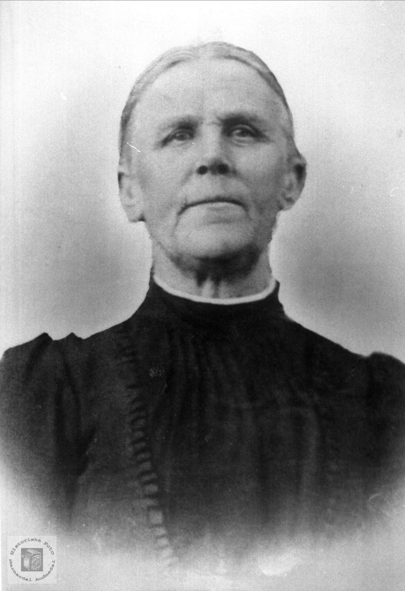 Portrett av Anna Rosseland gift Ågedal
