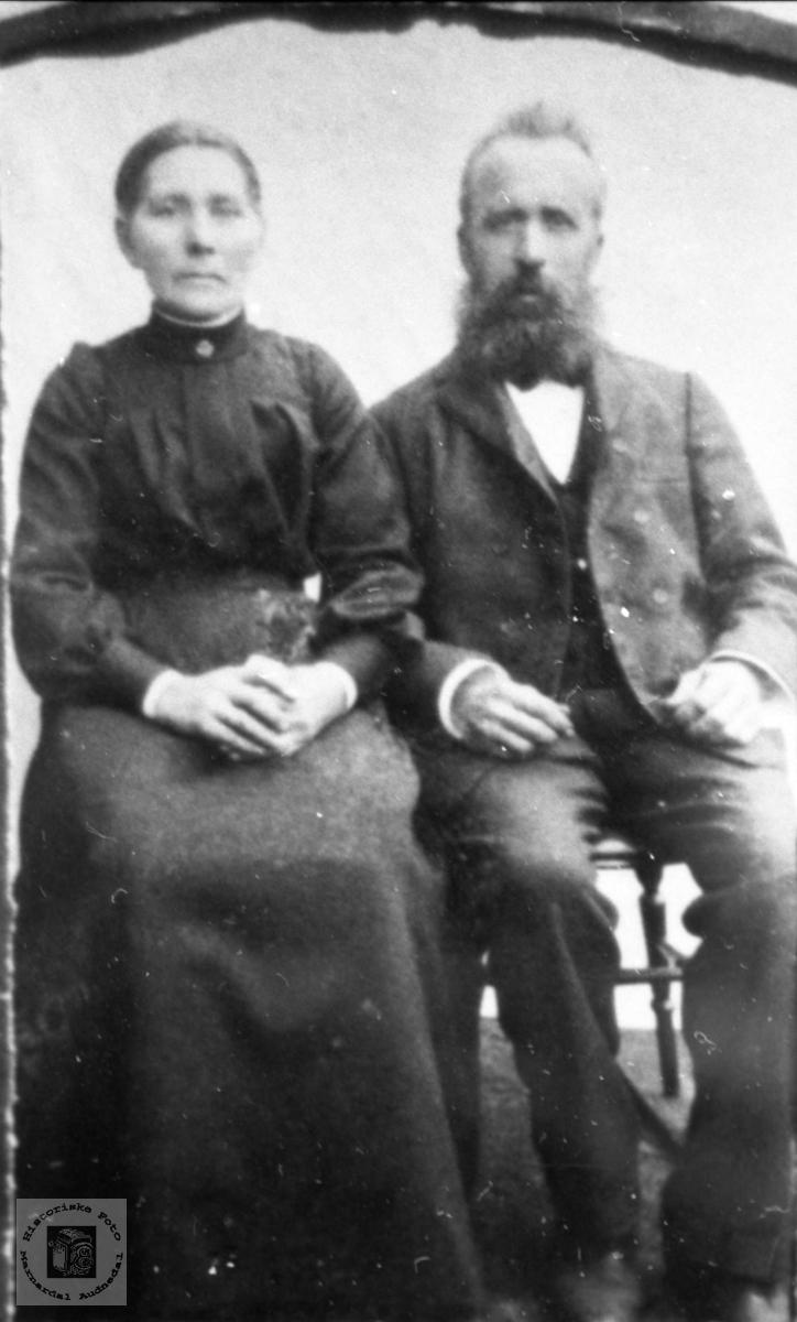 Ekteparet Guri og Tønnes Røynesdal Abelseth. Bjelland.