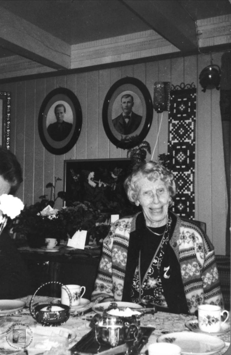 Bertine Abelseths 85 årsdag, Bjelland.