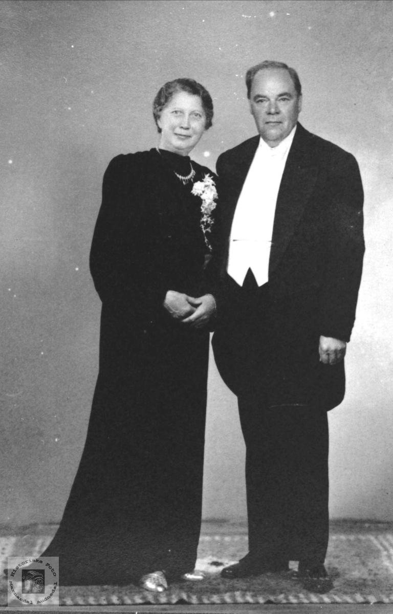 Ekteparet Kathinka Severine og Helge Julius Waaler.