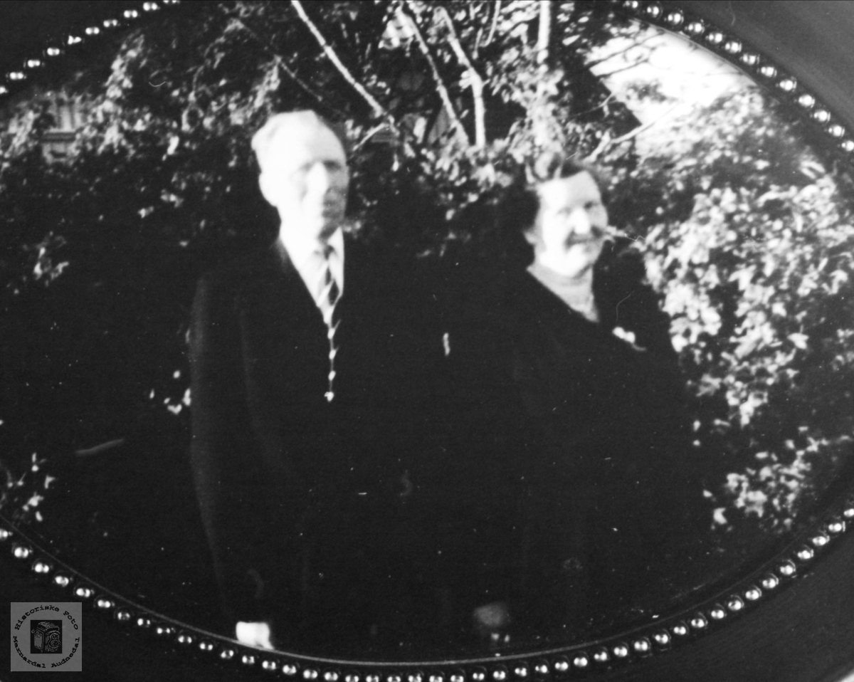 Ekteparet Ole Andreas og Gudrun Amanda Gausdal.