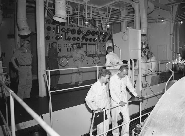 Maskinrummet på fartyg nr. 203 T/T Burl S. Watson.