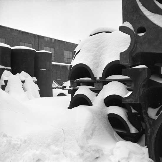 Snömotiv från Uddevallavarvet.