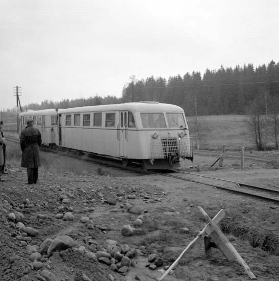 """Enligt notering: """"Bromsprov med rälsbuss 29/10 -59""""."""