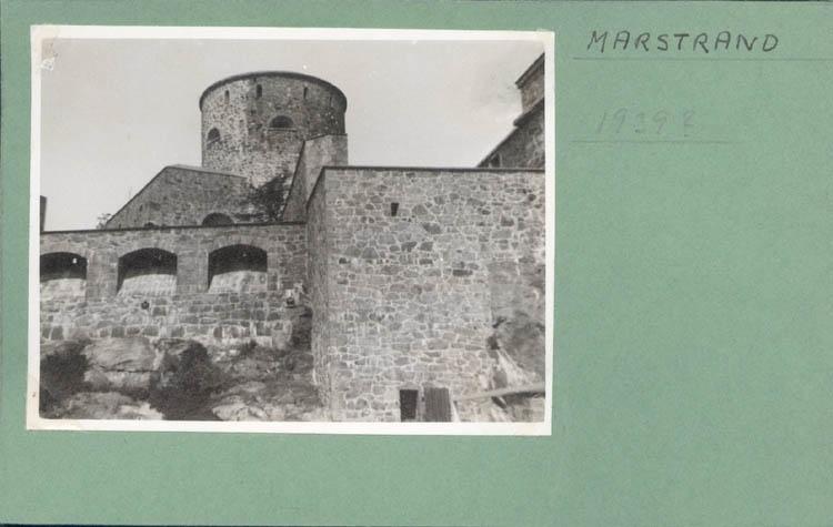 """Noterat på kortet: """"Marstrand. 1939?"""""""