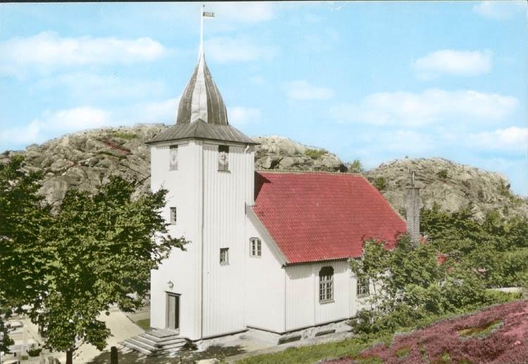 """Tryckt text på kortet: """"Rönnängs kyrka."""" ::"""