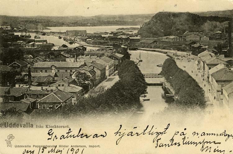 Uddevalla från Klocktornet.