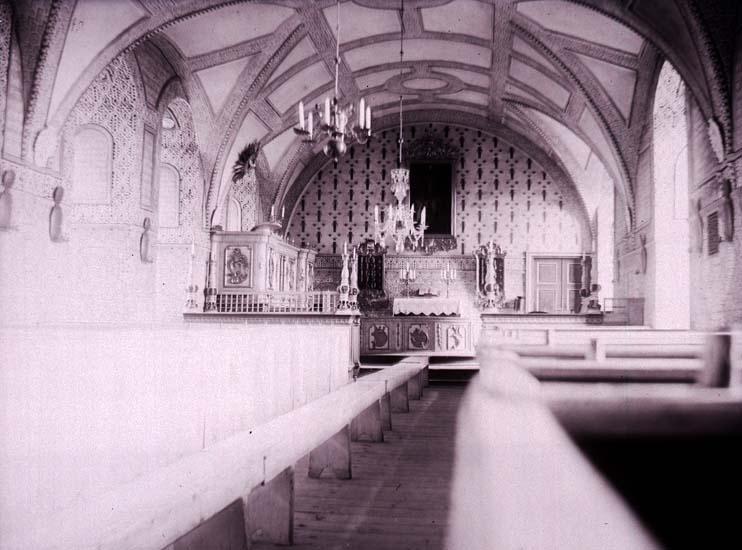 """Enligt text som medföljde bilden: """"Kalmar. Slottskyrkan."""" ::"""