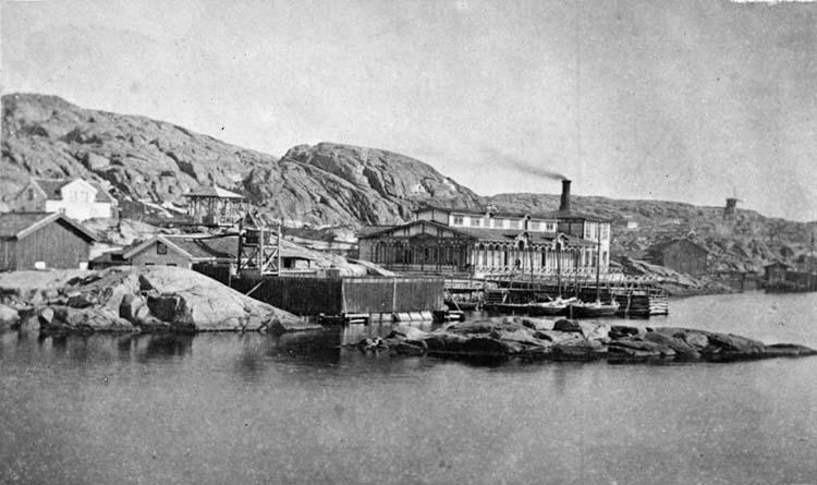 Varmbadhuset, Lysekil på 1860-talet