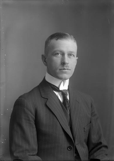 """Enligt fotografens noteringar: """"Direktör Olof Bildt vid 40 års ålder omkring 1920-25."""""""