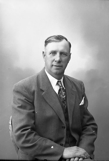 "Enligt fotografens journal nr 7 1944-1950: ""Martinsson, Herr Josef Ödsmål""."