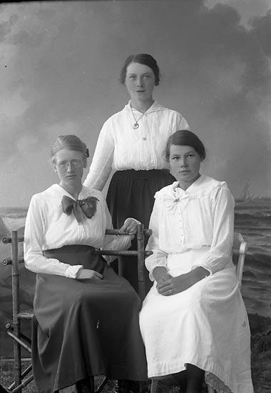 """Enligt fotografens journal nr 3 1916-1917: """"Asker, Hulda St. Askerön Här""""."""