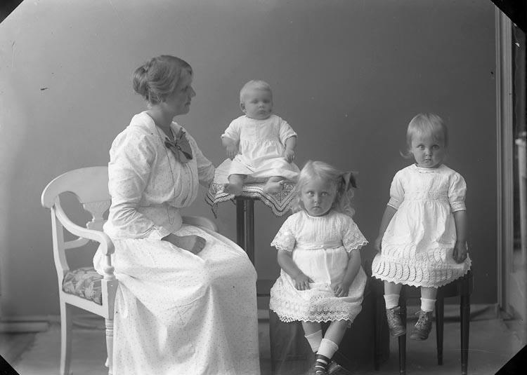 """Enligt fotografens journal nr 2 1909-1915: """"Dahlander, Fru, Här""""."""