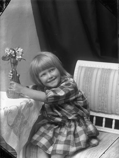 """Enligt fotografens journal Lyckorna 1909-1918: """"Gillberg, Valli Lyckorna""""."""
