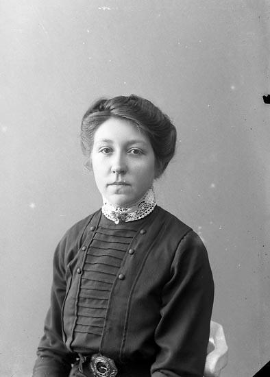 "Enligt fotografens journal nr 2 1909-1915: ""Andersson, Hanna, Askerön""."