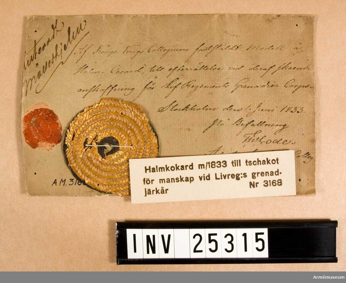 Halmkokard. Grupp C I. PUBL  AMV Medd. XIII, sida 105.