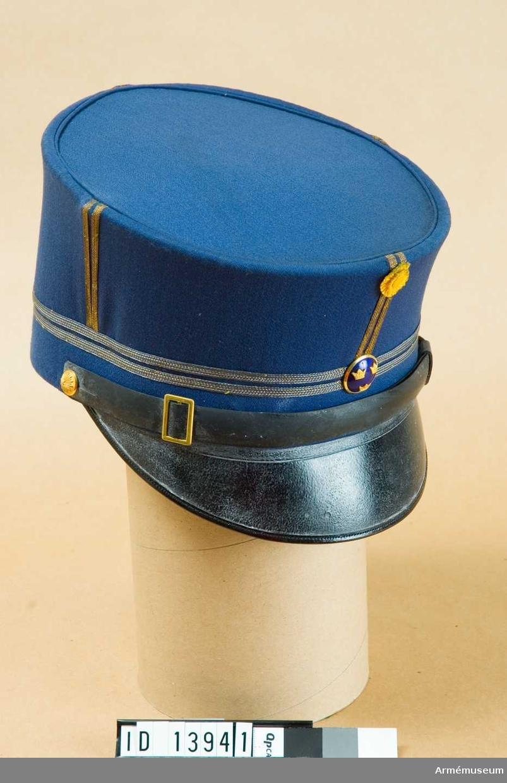 Grupp C I. Ur uniform för löjtnant vid fortifikationen, bestående av  vapenrock, axelklaffar, 2 par ridbyxor, mössa.