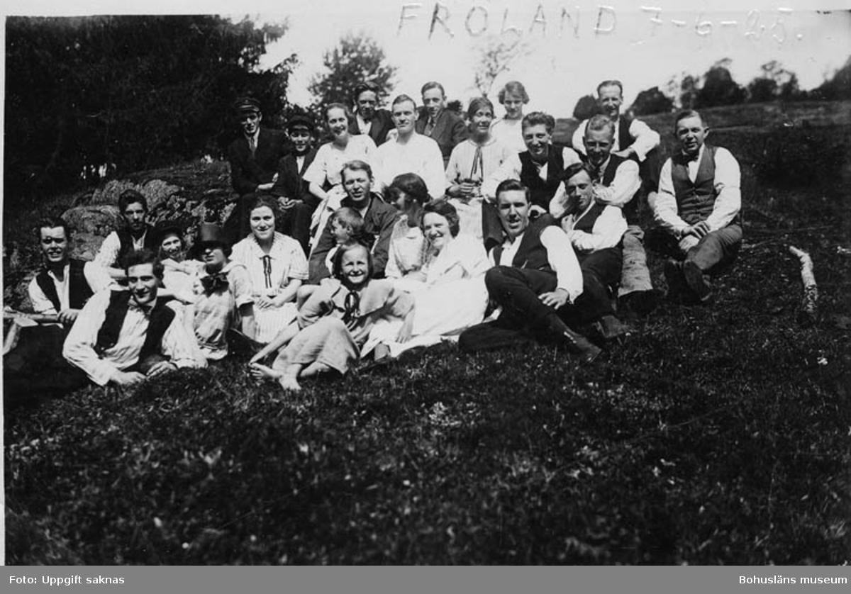 """Enl. text på kopians framsida: """"Fröland 7-6-25 Enl. text på kopians baksida: Styrbord 7/6 1925""""."""
