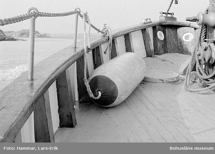 """Motivbeskrivning: """"Räddningskryssaren """"Lions"""", Fjällbacka."""" Datum: 1977"""