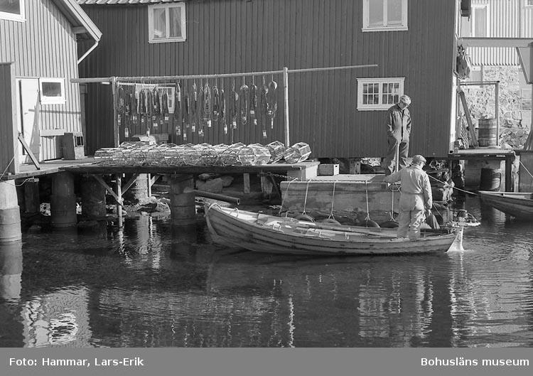 Hummerfiskare i Hälleviksstrand 1978