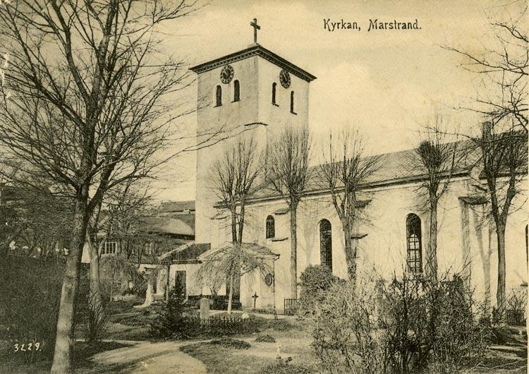 Notering på kortet: Kyrkan. Marstrand.