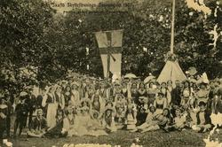 Notering på kortet: Från Skaftö Skytteförenings sommarfest 1