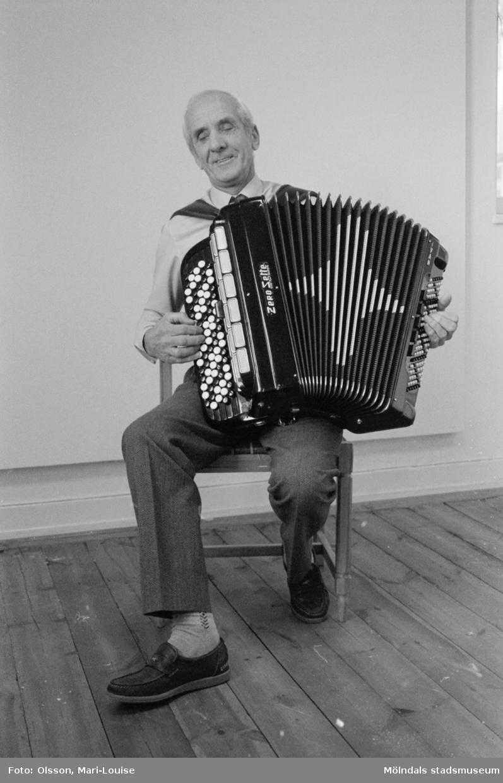 Ivan Svensson, ordförande i Mölndals dragspelsklubb.