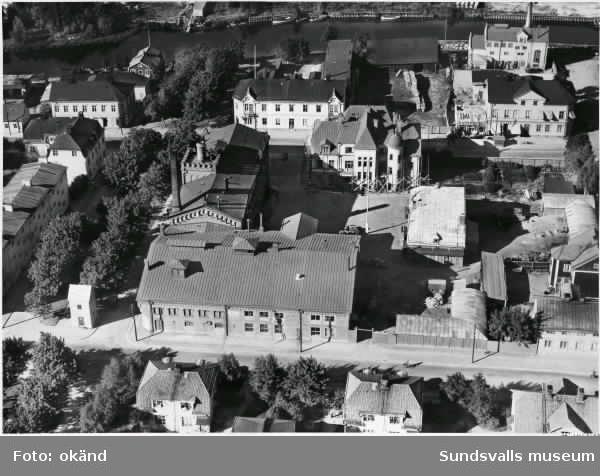 Flygbild över Nordstiernans bryggeri.