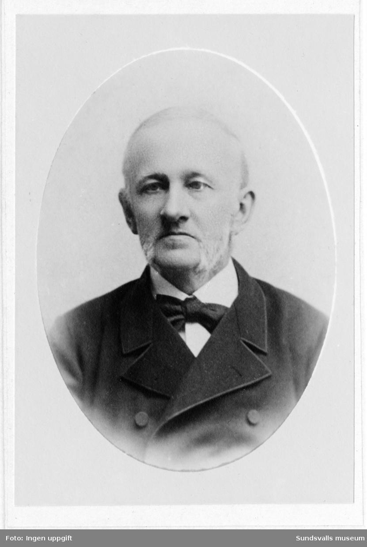 Porträtt av grosshandlare August Sundberg, far till författarinnan Maria Rick-Müller.