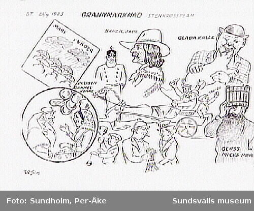 """Grannmarknad, Stenkrossplan.""  S. T.  26/9 1925."