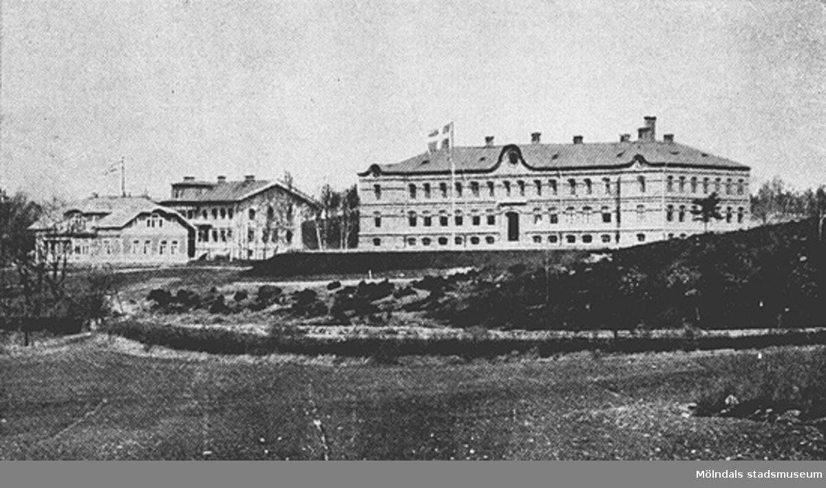 Anstaltsbyggnaderna på Stretered, cirka 1930.