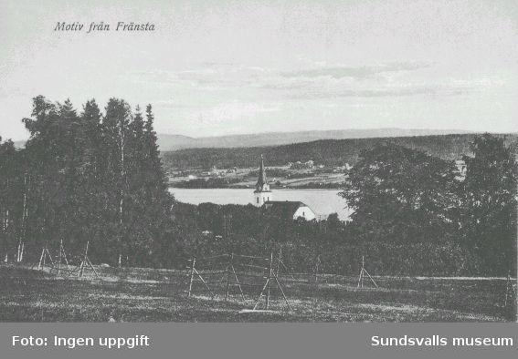 Motiv från Fränsta. Torps kyrka. Vykort.