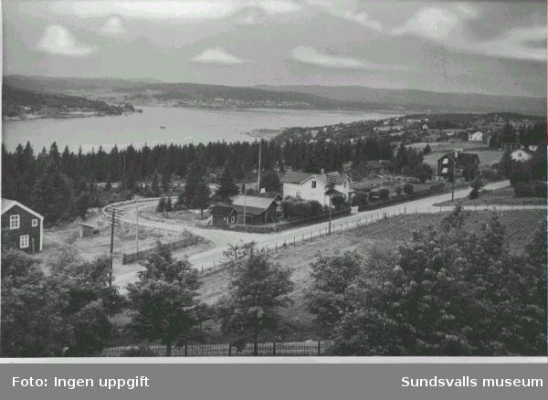Vy från Alnö kyrktorn mot NV.