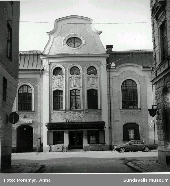 Köpmangatan 9, f d Godtemplarhuset eller NTO-huset, nu Konsertteatern