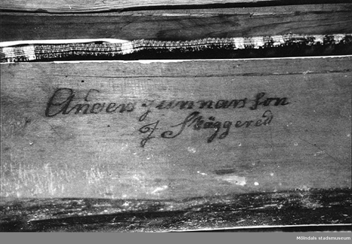 Signatur av Anders Gunnarsson i Skäggered.