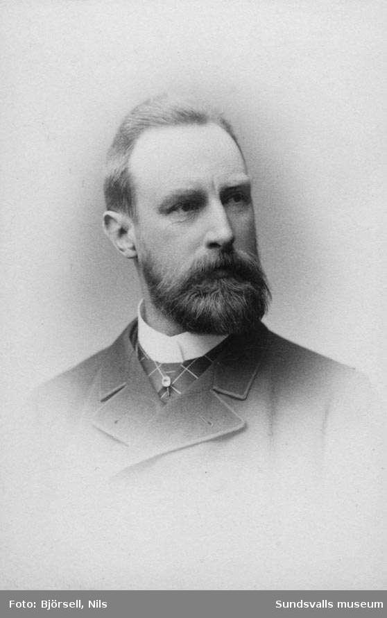 Stadsingenjör Rydbeck, Sundsvall. Omkr. 1880-90-talet.