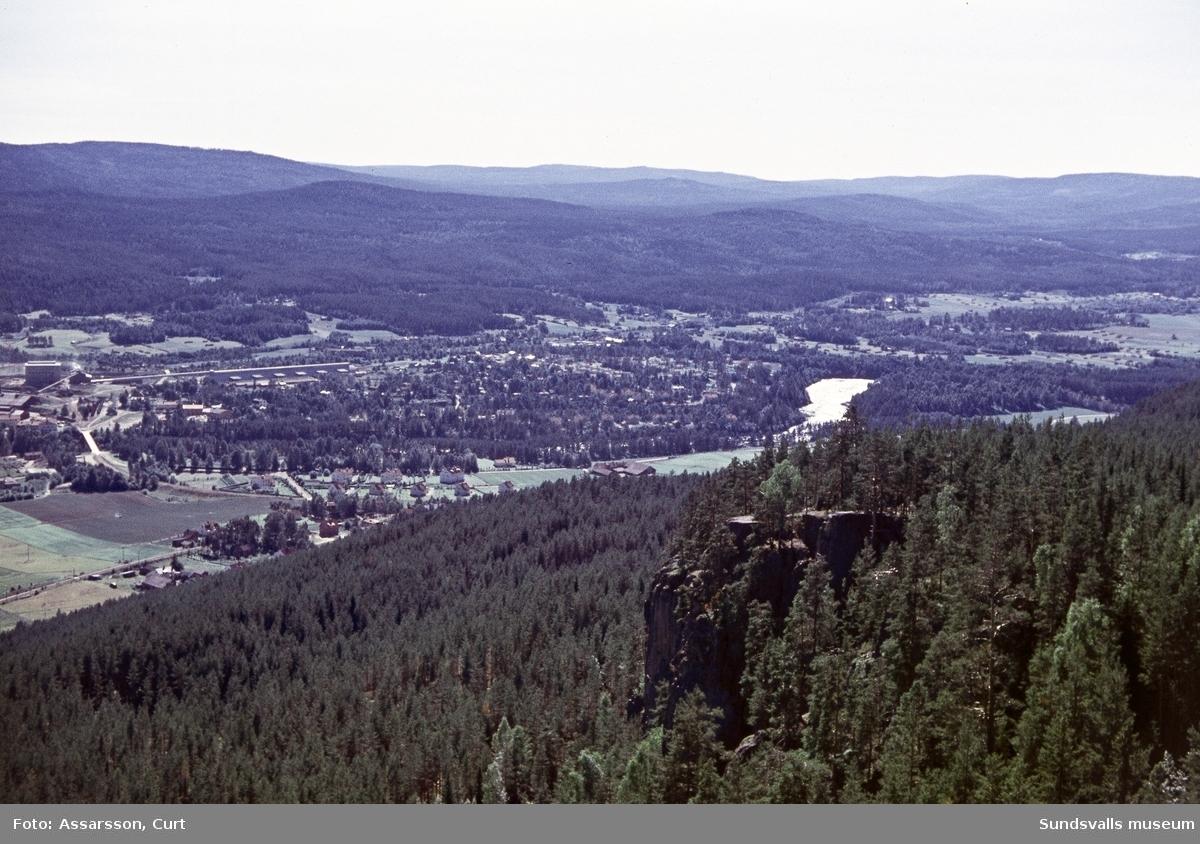 Vy västerut från Getberget mot Borgsjö.