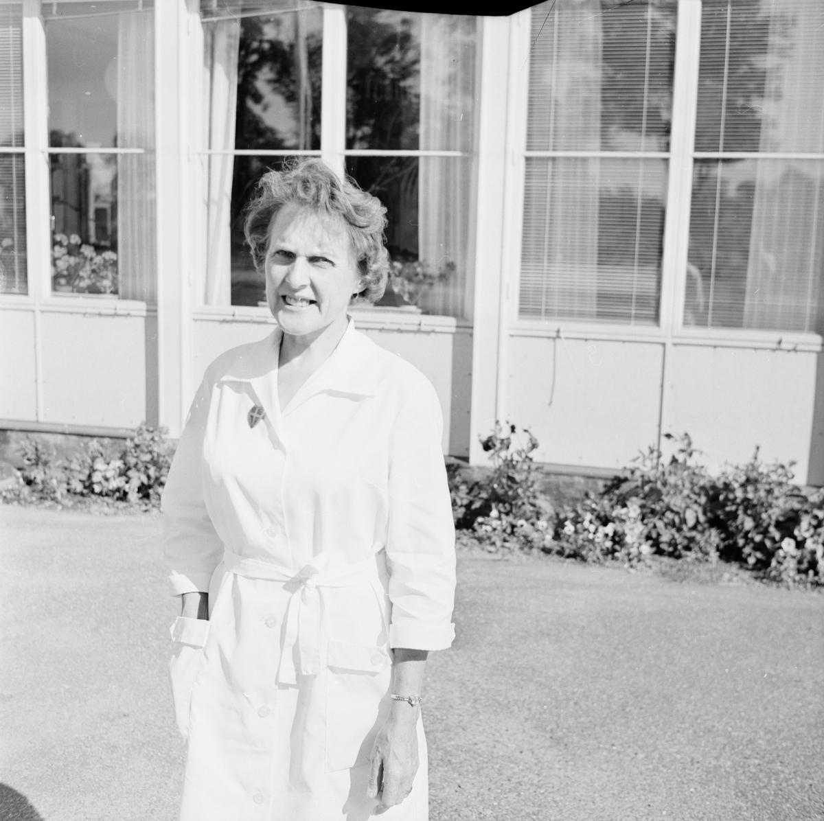 Ny föreståndare på Forshems ålderdomshem, Fors, Tierps socken, Uppland, augusti 1968