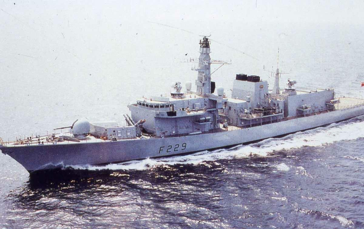 Engelsk fartøy av Duke - klassen (Type 23). Navnet er Lancaster og den har nummer F 229 (tidligere 232).