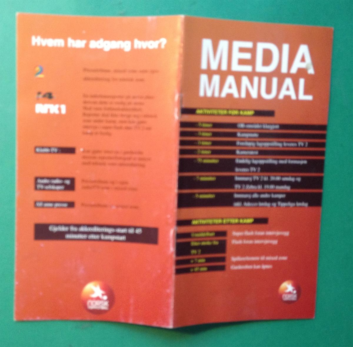Regelhefte til bruk for TV og andre medier som dekket Tippeligaen 2007.