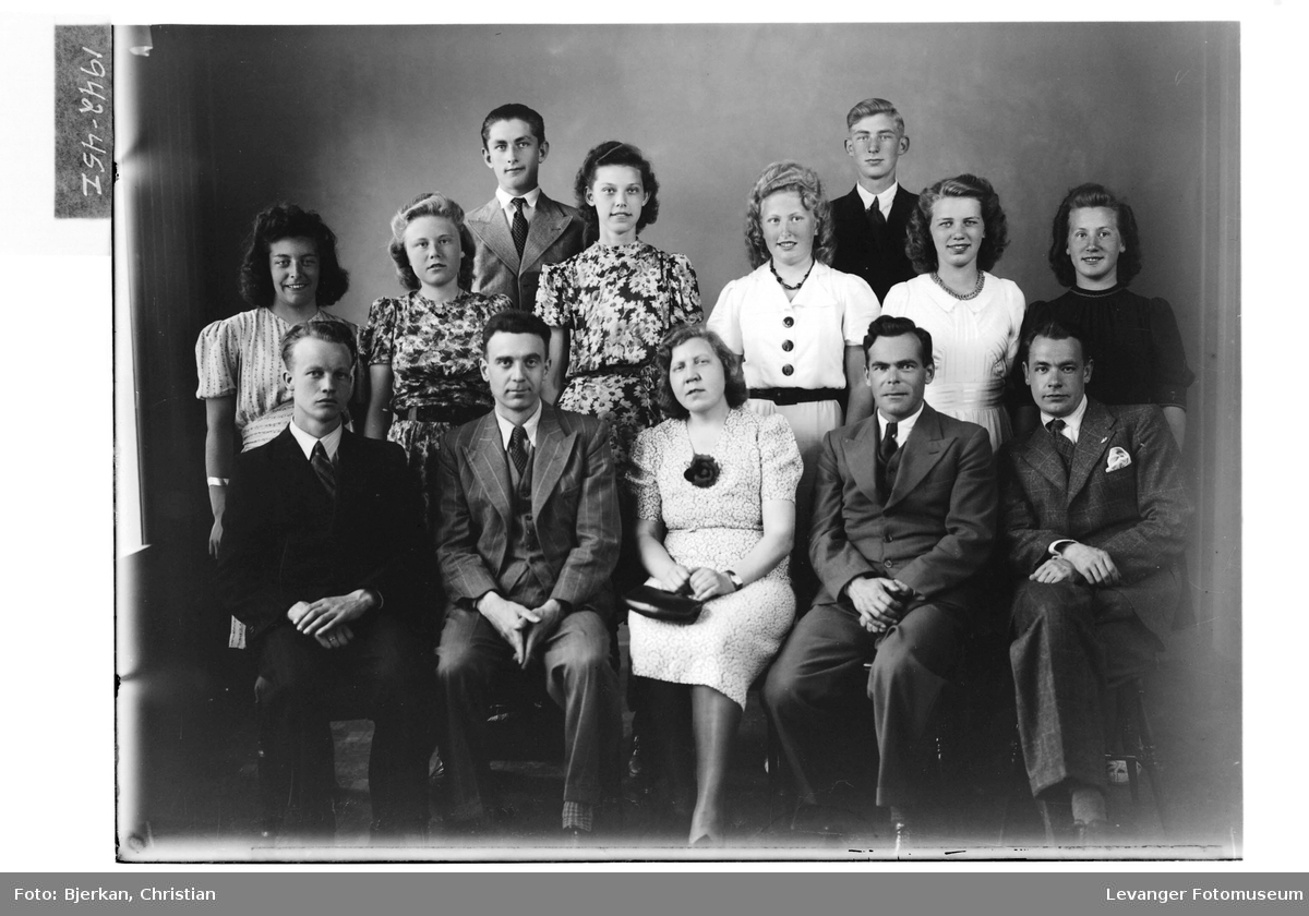 Levanger Realskole, 3. klasse i 1942